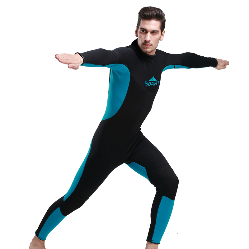 ФОТО Hot Sale 3mm Men Neoprene Wetsuit Diving Winter Swimming Surfing Windsurfing Snorkelling Full Bodysuit Men Swimwear