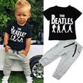 Varejo Novo estilo moda verão meninos conjunto de roupas de treino crianças bebê menino roupas esportivas terno 1 conjunto frete grátis