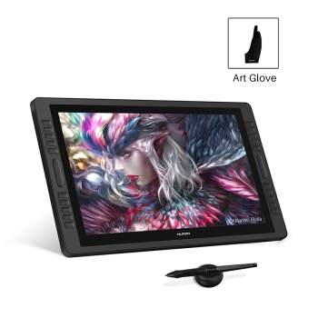 HUION Kamvas Pro 22 2019 Pen Tablet Monitor Graphics Drawing Pen Display Monitor with 8192 Levels Batter-free Pen Dual Touch Bar classical design huion h690 graphic drawing tablet w pen upgraded version of huion h610 anti fouling glove wool felt liner bag