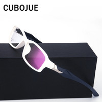 Cubojue (18g) Men's Glasses White Frame Eyeglass with Clear Optical Lens Spectacles for Prescription TR90 Foldable Eyewear Man