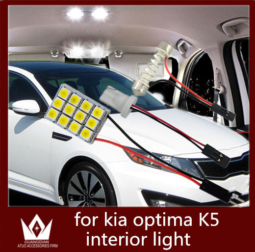 Guang Dian car led light Interior lamp Roof bulb Dome Panel Reading door led Trunk Light t10 festoon for optima K5 2010-2015 guang dian car interior lamp roof bulb