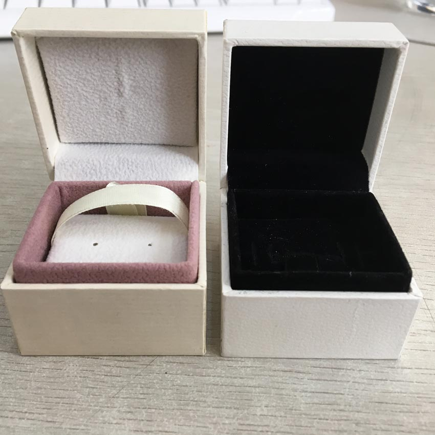 5*5*4 Cm Packaging Paper Box Ring Jewelry Display Ring Earrings Gift Velvet Box Compatible With Ring Earring DIY Pandora Jewelry