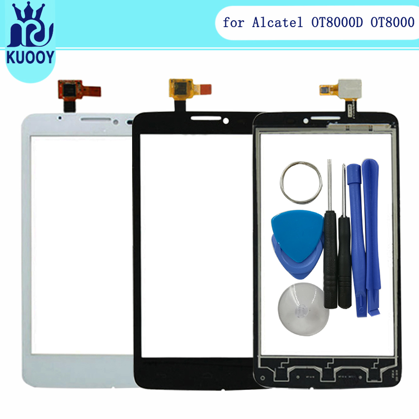 Touch Screen Panel For Alcatel One Touch Scribe Easy OT 8000 8000D OT8000 Digitizer Front Sensor Glass Lens With Tools