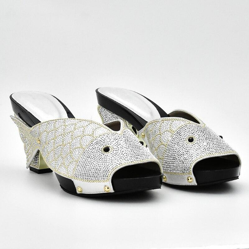 Hochzeit Schuhe Und Tasche Strass Passenden silber Afrikanische Farbe Frauen rot Set orange Schwarzes gelb gold Taschen Schuh blau Verziert Italienische Mit Splitter Nigerian Zx8ww