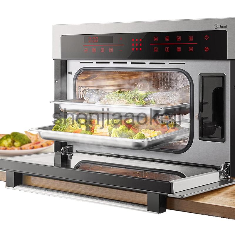 Ev Aletleri'ten Elektrikli Gıda Buharlayıcıları'de Ev gömülü fırın elektrikli buharlayıcı 1 adet akıllı pizza fırını Kek kavrulmuş tavuk Ocak Ticari kullanım Mutfak Pişirme Makinesi title=