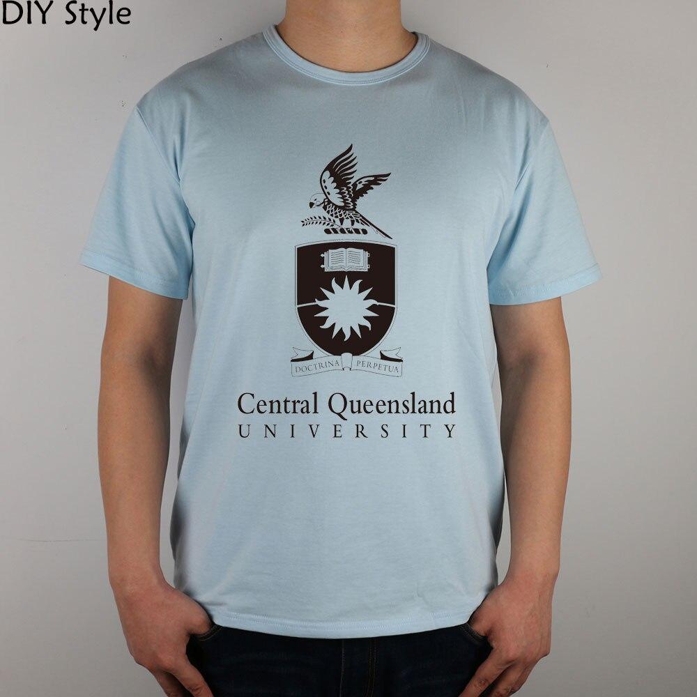 T shirt design qld - Canadian University Elite Queen Canada T Shirt Cotton Lycra Top 7283 Fashion Brand T Shirt