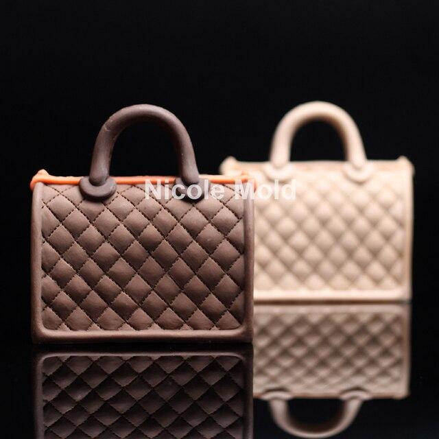 Luxury Handbag Design Silicone Mold Fondant Cake Decorating Tools