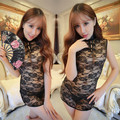 2016 summer gold traditional chinese dress women's satin long cheongsam qipao clothing flower plus