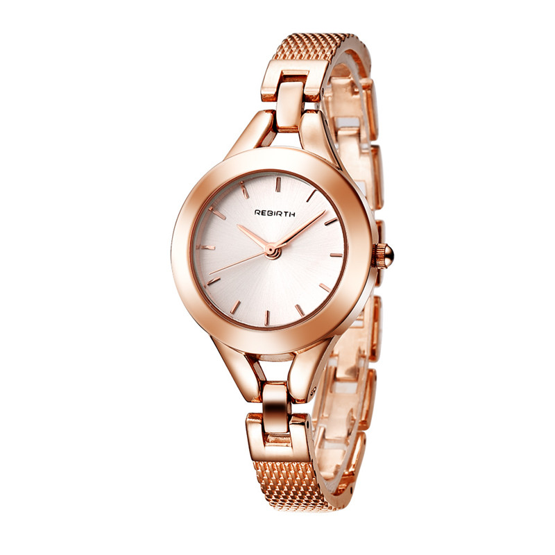 2018 REBIRTH Women Watch Fashion Ladies Dress Quartz Watches Stainless Steel Bracelet Wristwatches Luxury Gift Relogio Feminino onlyou luxury brand fashion watch women men business quartz watch stainless steel lovers wristwatches ladies dress watch 6903