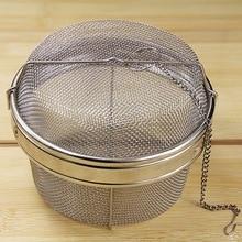 Edelstahl korb mesh ball suppe siebe gewürz abschaum taschen filter geschmack material metall siebe