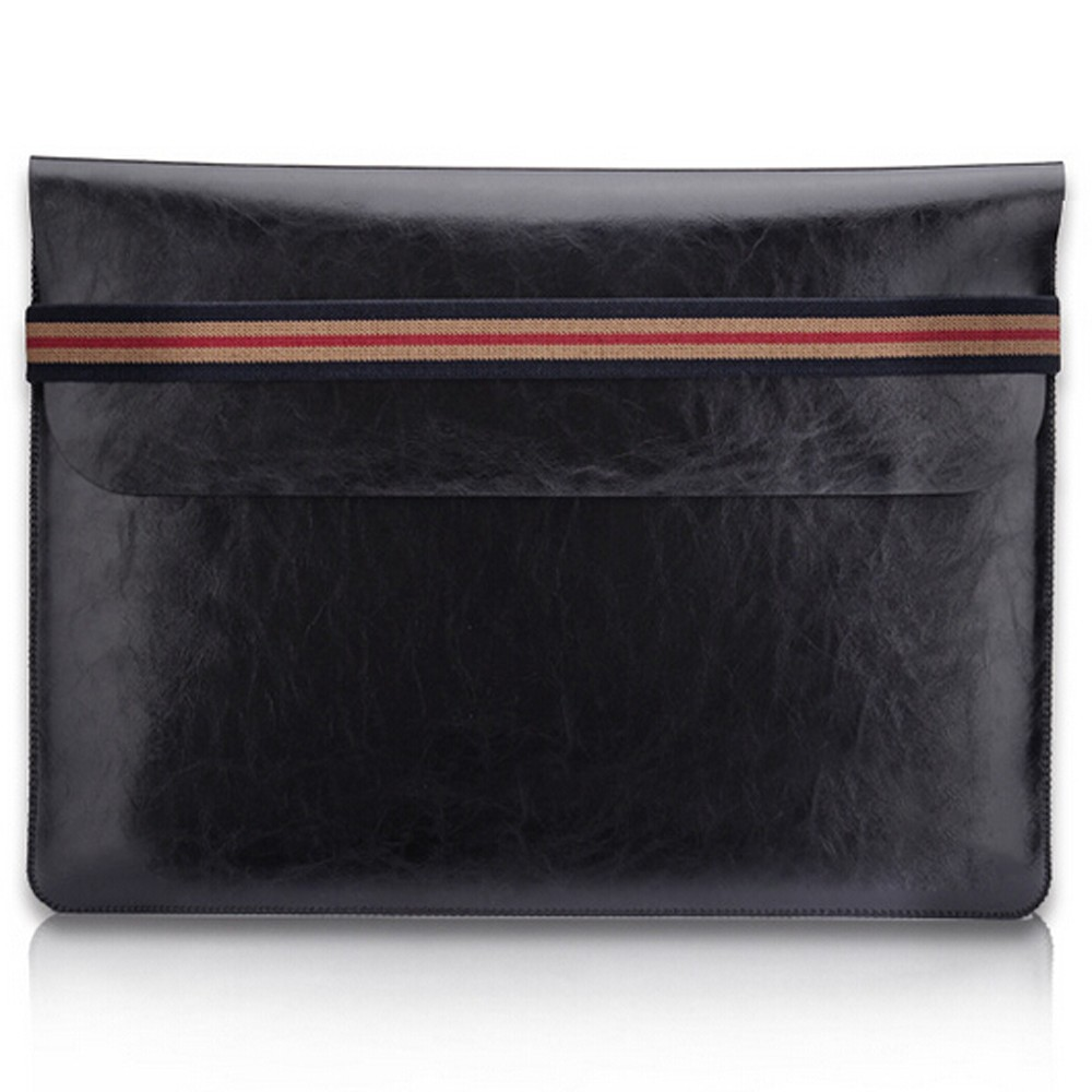 Universal Leather Laptop Bag Sleeve Case For MacBook Air Pro Retina 11 13 <font><b>15</b></font> inch Notebook Carry Bag Pouch for Lenovo HP <font><b>ASUS</b></font> image