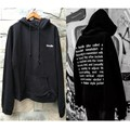 Autumn and winter black Oversize HOODY Behind The Letters Embroidery Sweatshirts&hoodies Cotton Loose Clothing Men and Women