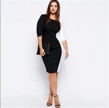 2016 Plus Size White Black Casual Summer Women Dresses Vestido Vestiti Donna Kleider Roupas Elegant Office Gothic Rockabilly UK