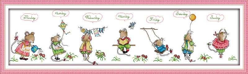 Mice DMC Cross Stitch Kit Countryside