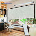 EWAY CASA Tubular Motorized Roller Blinds Half Blackout Electric Curtains AC 220V Limit Switch Quiet 36DB Office No.MPR-30T