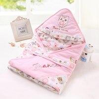 90*90cm Baby Stroller Sleeping Bag Cartoon Cat Cotton Spring Fall Warm Sleepsacks Newborn Envelope For Kids Boys Girls Pram