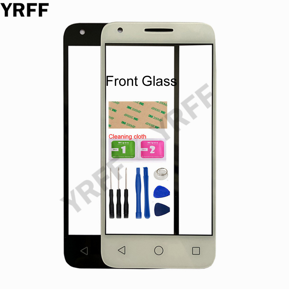 4.5'' For Alcate 4027 (No Touch Screen) Outer Glass For Alcatel One Touch Pixi 3 4027 <font><b>4027D</b></font> 4027X Front Glass Panel Replacement image