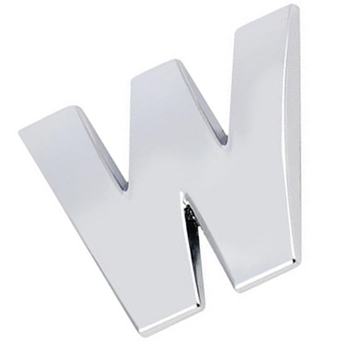 3D DIY Металлик Алфавит Стикеры эмблема автомобиля письмо знак наклейка, серебро-W
