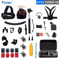 TUOWEI For Gopro Hero 3 3 4 Xiaomi Yi Mount Chest Head Strap Selfie Stick For