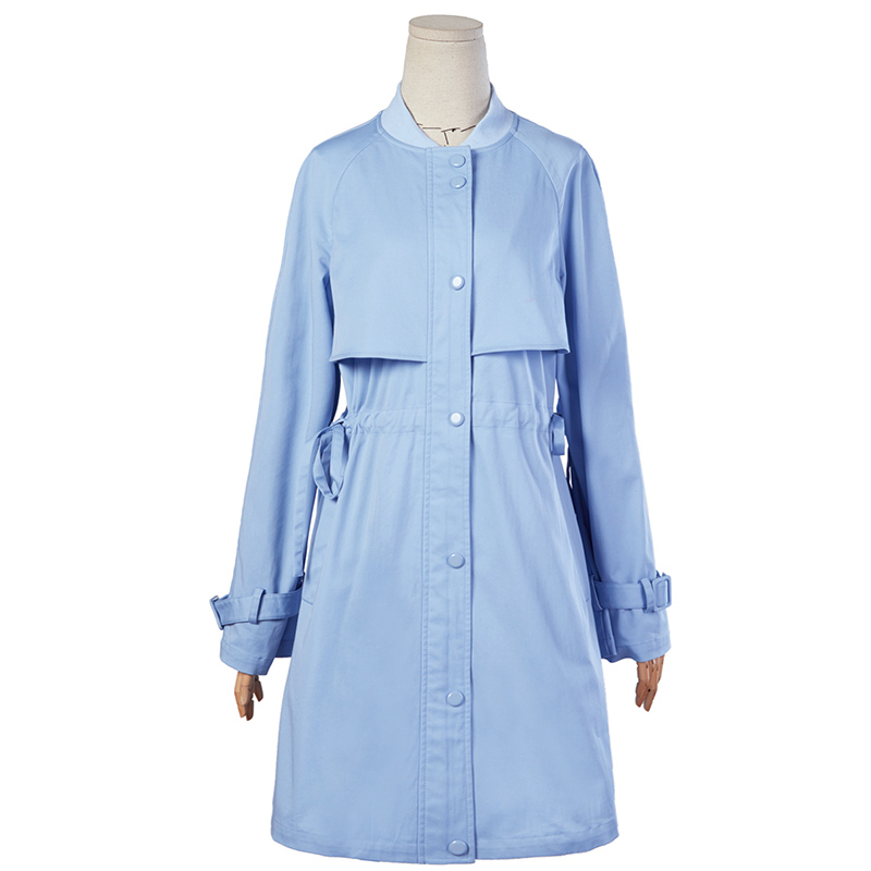 ARTKA New Spring Female Floral Embroidered Drawstring Slim Waist Long Trench Full Sleeve Single Breasted Coat WA10381C