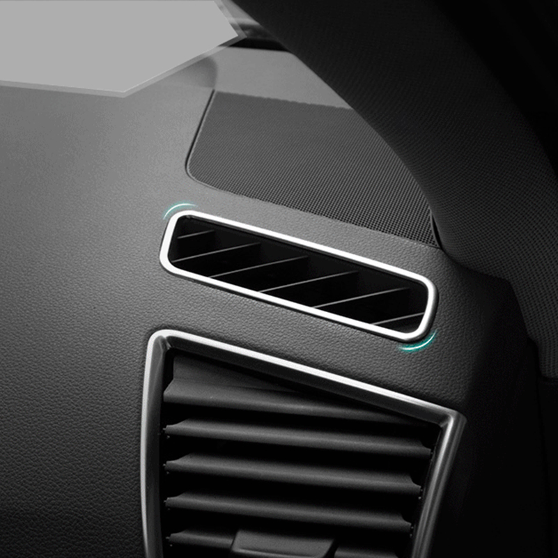 For Audi Q5 Quattro 2008-2015 Stainless Steel Car Interior Front Air Conditioning Vent Outlet Trim Decorative Sticker audi coupe quattro купить витебск