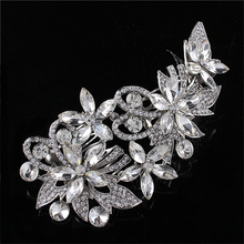 Luxurious Woman Hairwear Wedding Jewelry Bride Haircomb Friendly Rhinestone Accessories Fashion Crystal Combs, FW010