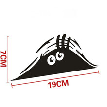 Car Stickers Funny Peeking Monster Car Sticker vinyl decal decorate sticker Waterproof Fashion Car Styling Accessories(China)