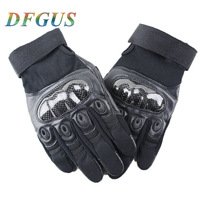 PU Outdoor Cycling Tactical Full Finger Gloves Military Army Shooting Airsoft Bicycle Combat Hunting Hiking Protective Gear Men