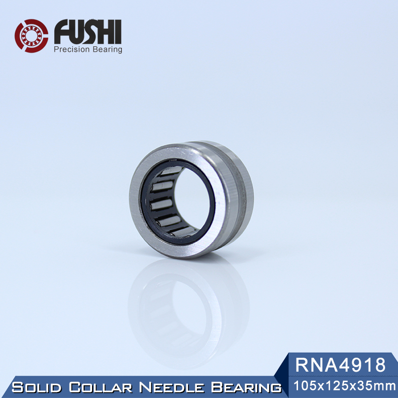 RNA4918 Bearing 105*125*35 mm ( 1 PC ) Solid Collar Needle Roller Bearings Without Inner Ring 4624918 4644918/A Bearing rna4913 heavy duty needle roller bearing entity needle bearing without inner ring 4644913 size 72 90 25