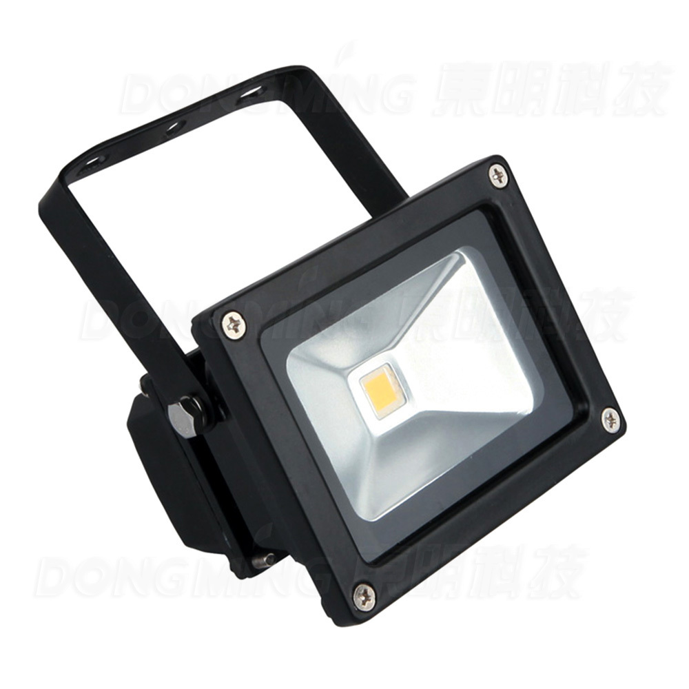 Free Shipping Low Price Black Cover 10W LED Flood Light Warm White IP65  900LM AC85