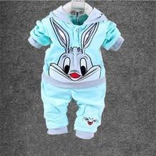 Hot New 2017 Baby Clothing Set Cartoon Kids Apparel Boys Girls Children Hoodies And Pant Children