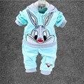 Hot!! Novo 2016 Roupas de Bebê Definir Miúdos Dos Desenhos Animados Meninos Vestuário Meninas das Crianças Hoodies E Calça Crianças Roupas define Para O Outono