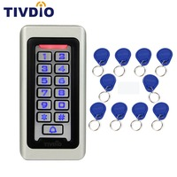 SIB Keypad RFID Access Control System Proximity Card Standalone 2000 Users Door Access Control Metal Case