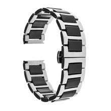 18mm Ceramic Stainless Steel Bracelet for Asus ZenWatch 2 Women WI502Q 45mm Huawei Watch Band Butterfly