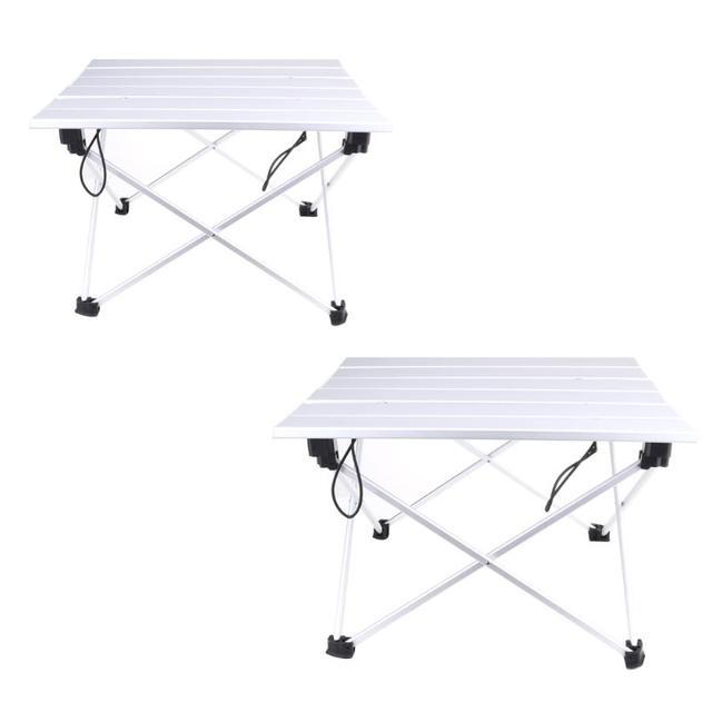 Portable Camping Table Outdoor Golden Aluminium Alloy Foldable Folding Picnic Ultralight Mesa Plegable For Hiking