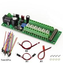 1х плата распределения питания самоадаптирующийся дистрибьютор HO N O светодиодный уличный светильник концентратор постоянного тока AC напряжение PCB012 контроль мощности поезда