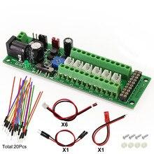 1X Güç dağıtım panosu Kendinden uyarlamalı Distribütörü HO N O led sokak lambası Hub DC AC Voltaj PCB012 Tren Güç Kontrol