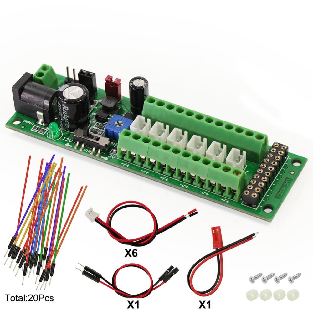 1X Power Distribution Board Self adapt Distributor HO N O LED Street Light Hub DC AC Voltage PCB012 Train Power ControlModel Building Kits   -