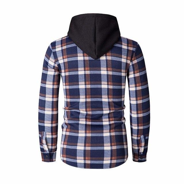 ZOGAA New Style Hoodies Men Plaid Hoodie Fashion Streetwear Hoody Sweatshirt For Men Clothing 2018 Long Sleeve Hooded Top 1