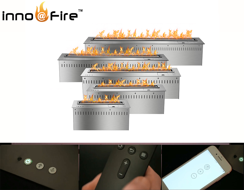 Inno 30 Inch Intelligent Remote Control Bioethanol Fireplace