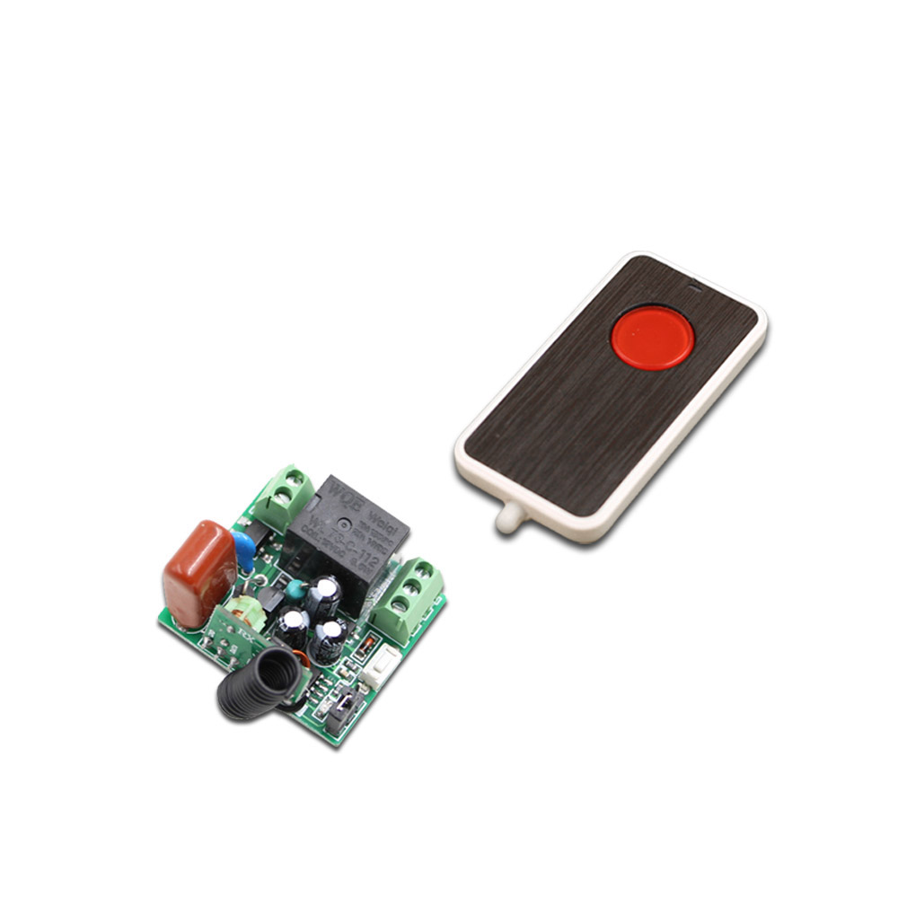 AC 220V 10A Relay Red button Transmitter Remote Control Switch Wireless ON OFF Key Switch Light Lamp LED Switch 1CH Receiver ac 85v 250v wireless remote control switch remote power switch 1ch relay for light lamp led bulb 3 x receiver transmitter