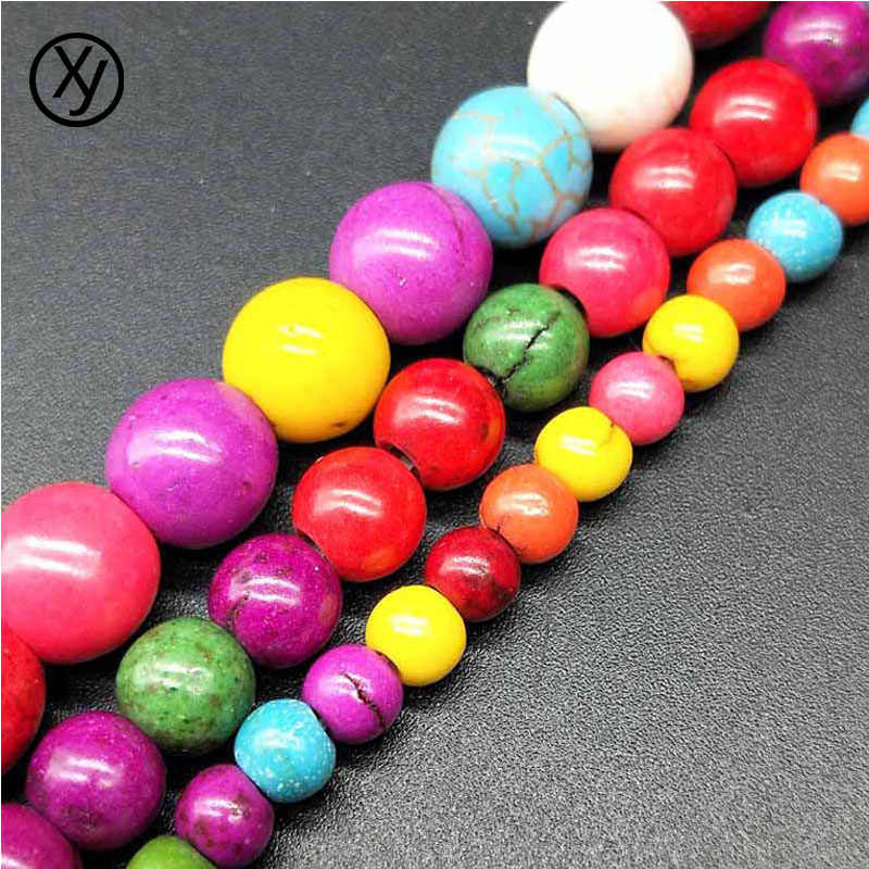 DIY 100/70/50pcs/lot 4/6/8mm Beads Random Color Scattered Bead Stone Beads for Bracelets Necklace Jewelry Findings wholesale
