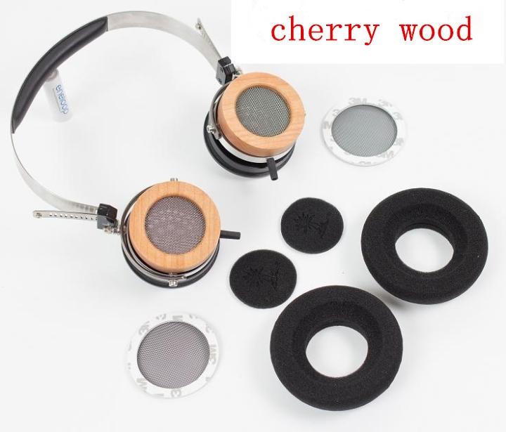 44 мм наушники оболочки раковины деревянной Вишневое дерево/ палисандр / эбони(без драйверов и кабелей)