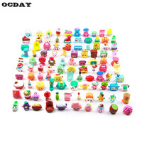 50 100pcs Shops Season Fruit Merchants Anime Family Shopping Mixed Toy Doll For Kids Doll Play