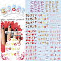 2015 NEW 50PCS/lot   BLE355-365 1313-1334 Valentine's Day Heart Love Nail Art Stickers For Nails Water Transfer