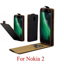 цена на For Nokia 2 Cover Nokia2 Luxury PU Leather Flip Case For Nokia 2 Vertical Open Down Up Cover For Nokia 2 Case