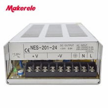 CE approved 200w NES series single output switching power supply 5v 12v 15v 24v 36v 48v high quality reliable mean well original nes 75 12 12v 6 2a meanwell nes 75 12v 74 4w single output switching power supply