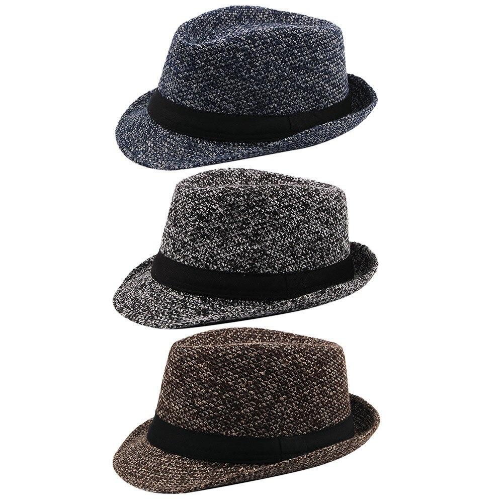 WunderschöNen Feitong Vintage Männer Winter Pork Pie Hut Mit Grosgrain Band Jazz Hut Warme Kappe Doppel Elf Neue Ankunft Rabatt Filzhüte