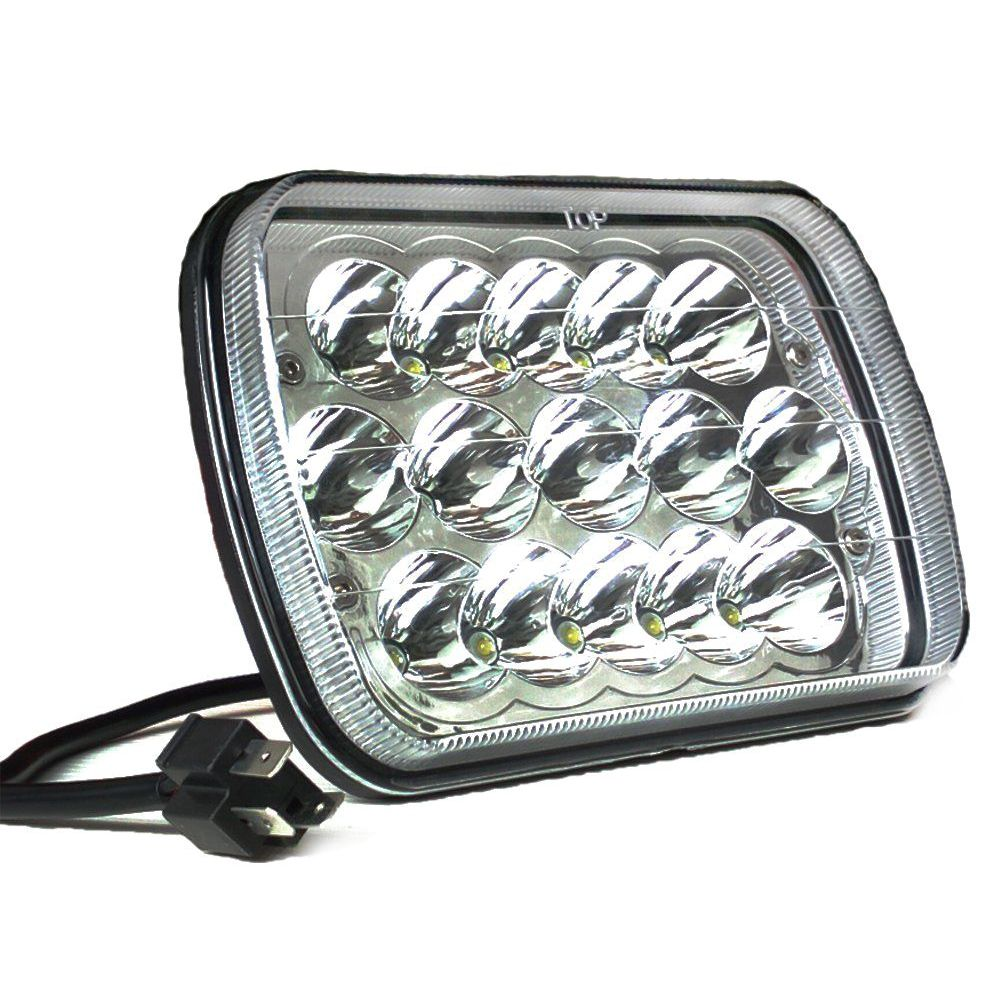 2PC 5X7 7X6 Sealed Beam LED Headlight Replacement for Jeep Cherokee XJ Trucks 170