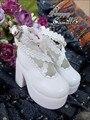 Bjd Shoes Sd Doll Bjd Doll Shoes White  Princess High Heeled Shoes For Bjd 1/4 1/3 Doll